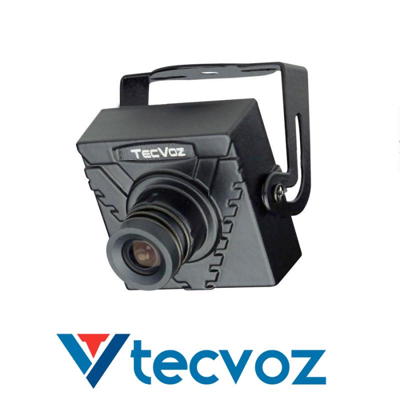 Mini Câmera Tecvoz (420TVL | 1/3 | 3.6mm)  - CFTV Clube | Brasil