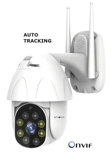 Mini Speed Dome IP Inova Auto-Tracking Full HD CAM-5707 (2.0MP | 1080p | Wi-Fi | IP66 | Plást)  - CFTV Clube | Brasil
