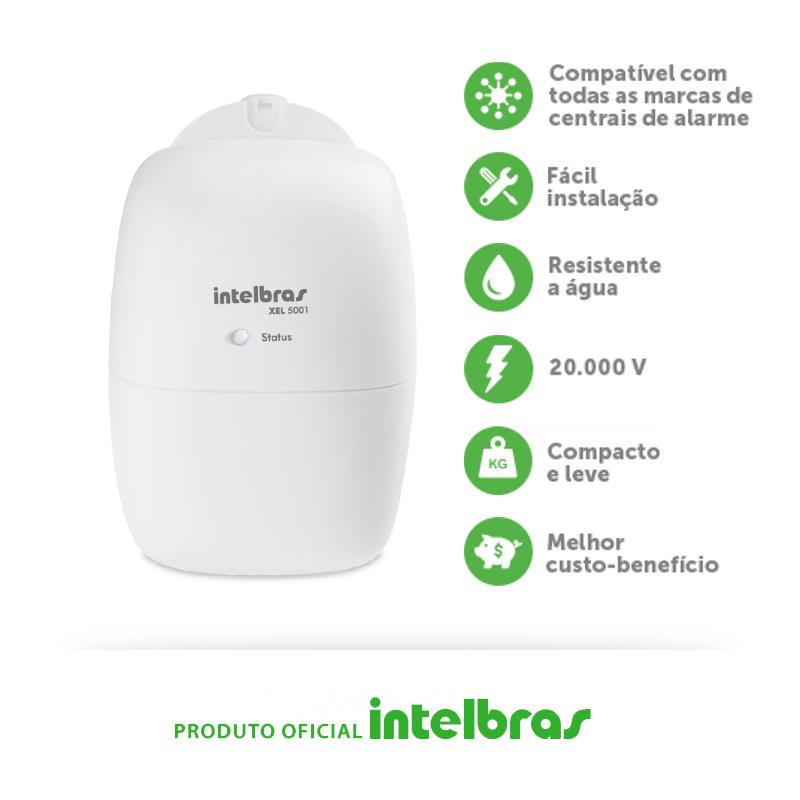 Módulo de Choque XEL 5001 Intelbras  - CFTV Clube | Brasil