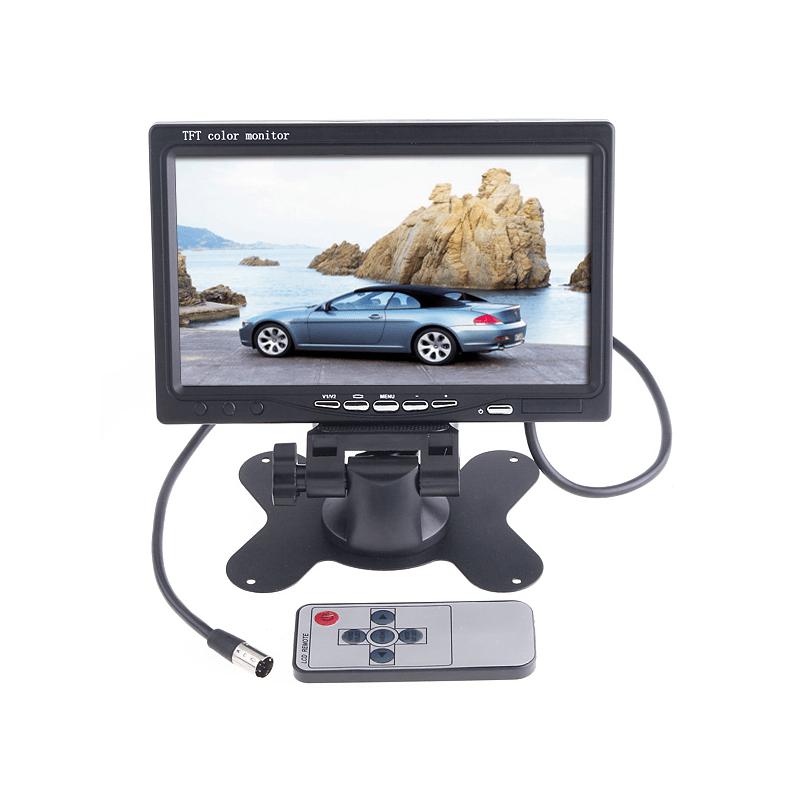 Monitor Lcd 7° Pol TFT Color  - CFTV Clube | Brasil