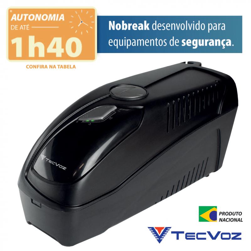 Nobreak Tecvoz Autonomia de até 1h40 - TV6000  - CFTV Clube | Brasil