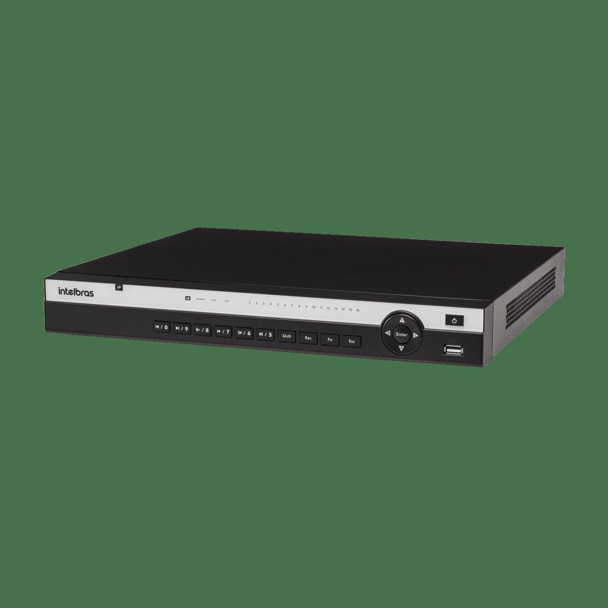 NVD Intelbras 16 Canais Multi HD Full HD PoE 3116 P  - CFTV Clube | Brasil