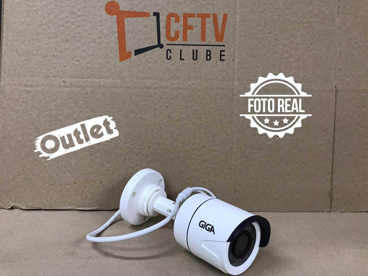 Outlet - Câmera Giga GS0002 Bullet Digital 960 Plus IR 20M (960TVL | 494p | 3.2mm | Plast)  - CFTV Clube | Brasil