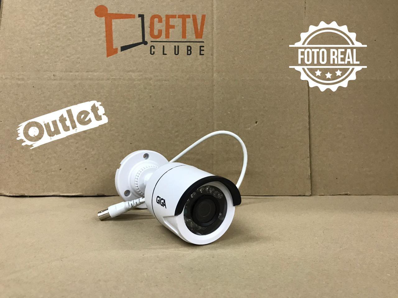 Outlet - Câmera Giga GS0014 Bullet Open HD Plus IR 20M UTC DWDR (1.0MP | 720p | 2.6mm | Plast)  - CFTV Clube | Brasil