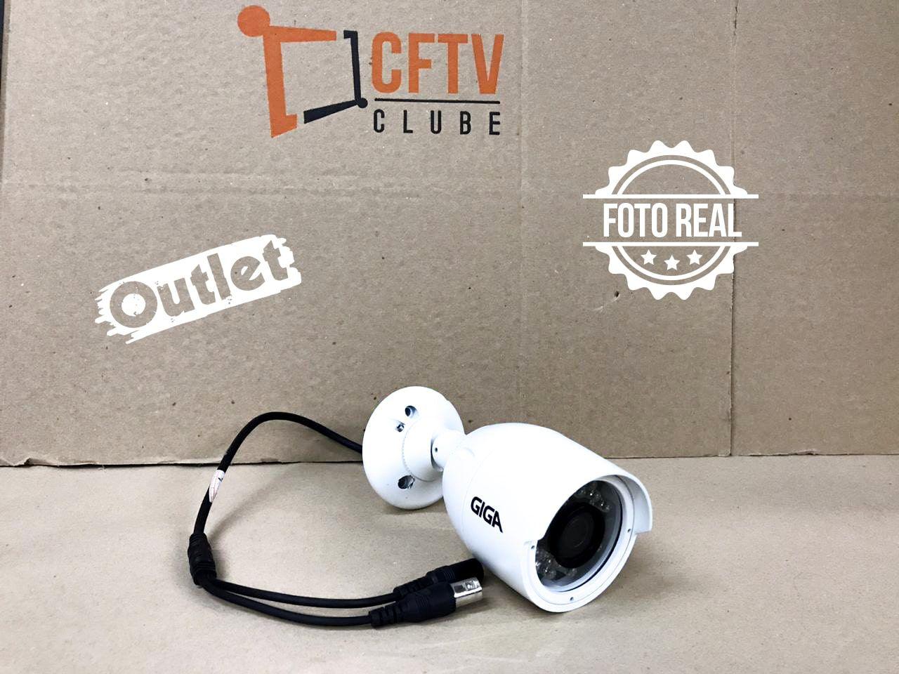 Outlet - Câmera Giga GS0016 Bullet Open HD Plus IR 30M IP66 (1.0MP | 720p | 2.6mm | Metal)  - CFTV Clube | Brasil