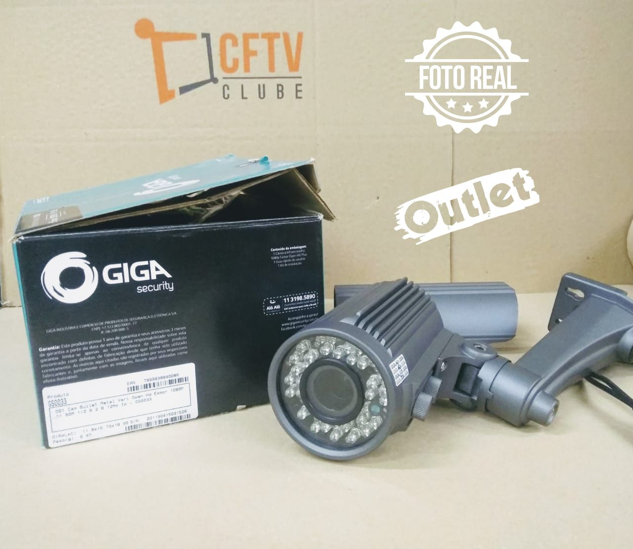 Outlet - Câmera Giga GS0033 Bullet Varifocal Open HD Sony Exmor IR 50M UTC DWDR IP66 (2.0MP | 1080p | 2.8~12mm | Metal)  - CFTV Clube | Brasil