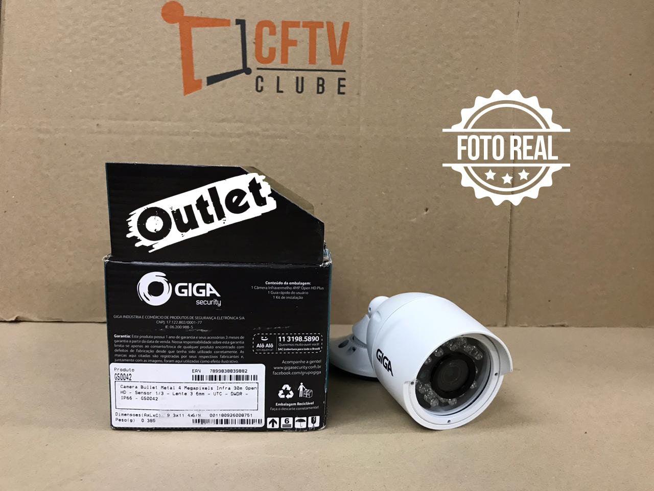 Outlet - Câmera Giga GS0042 Bullet Open HD IR 30M 4MM CMOS IP66 (4.0MP   1440p   3.6mm   Metal)  - CFTV Clube   Brasil