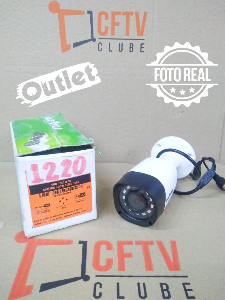 Outlet - Câmera Intelbras Bullet Full HD VHD 1220 B Multi HD G4 (2.0MP | 1080p | 3.6mm | Plast)  - CFTV Clube | Brasil