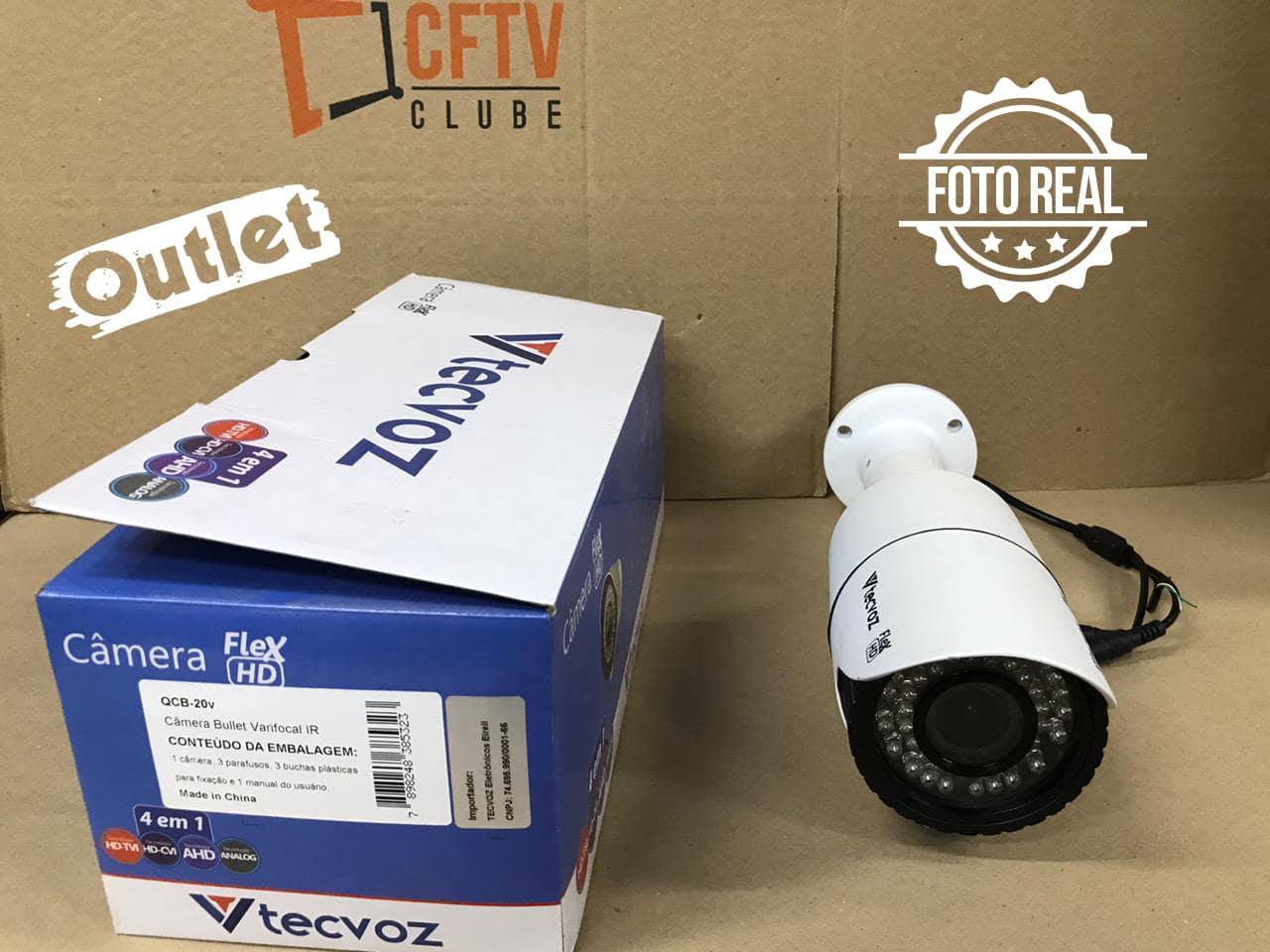 Outlet - Câmera Tecvoz Varifocal com Zoom Flex HD QCB-20v Full HD (2.0MP | 1080p | 2.8mm~12mm | Metal)  - CFTV Clube | Brasil
