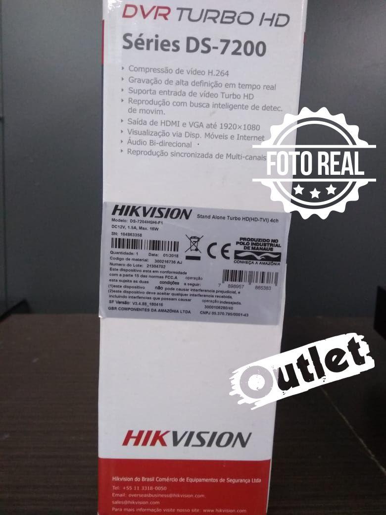 Outlet - DVR Hikvision 04 Canais Turbo Hd 5 Em 1 DS-7204HGHI-F1  - CFTV Clube | Brasil