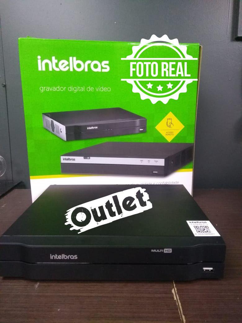 Outlet - DVR Intelbras 04 Canais Multi HD Alta Resolução MHDX 1004  - CFTV Clube   Brasil