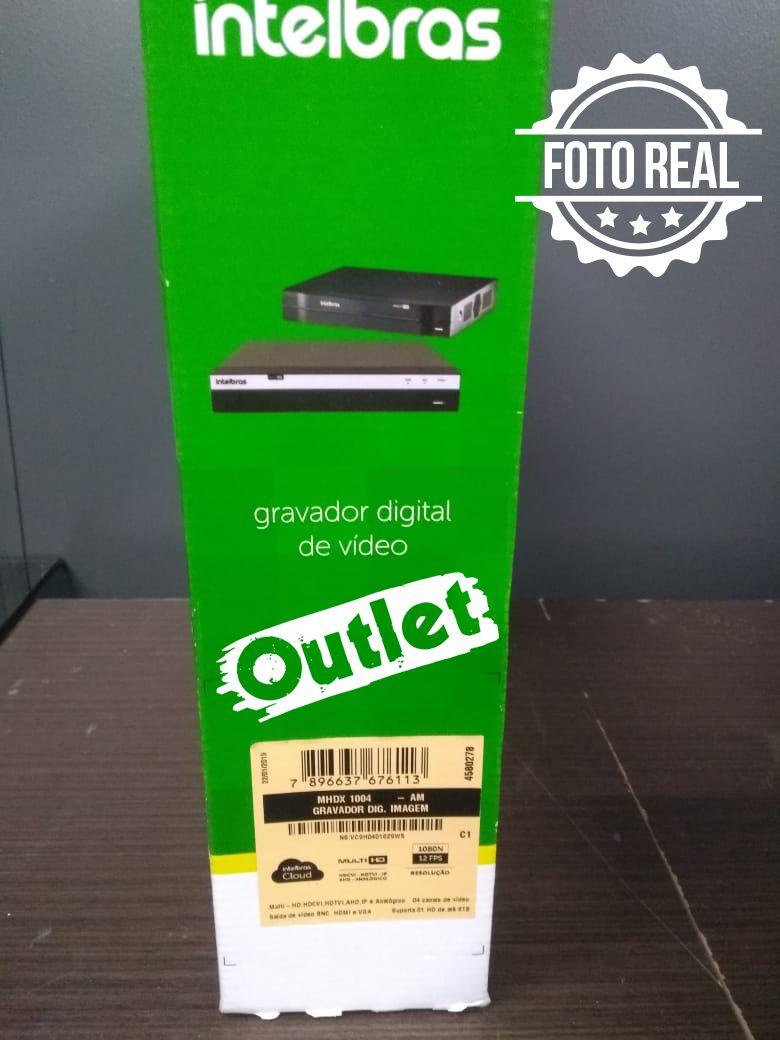 Outlet - DVR Intelbras 04 Canais Multi HD Alta Resolução MHDX 1004  - CFTV Clube | Brasil