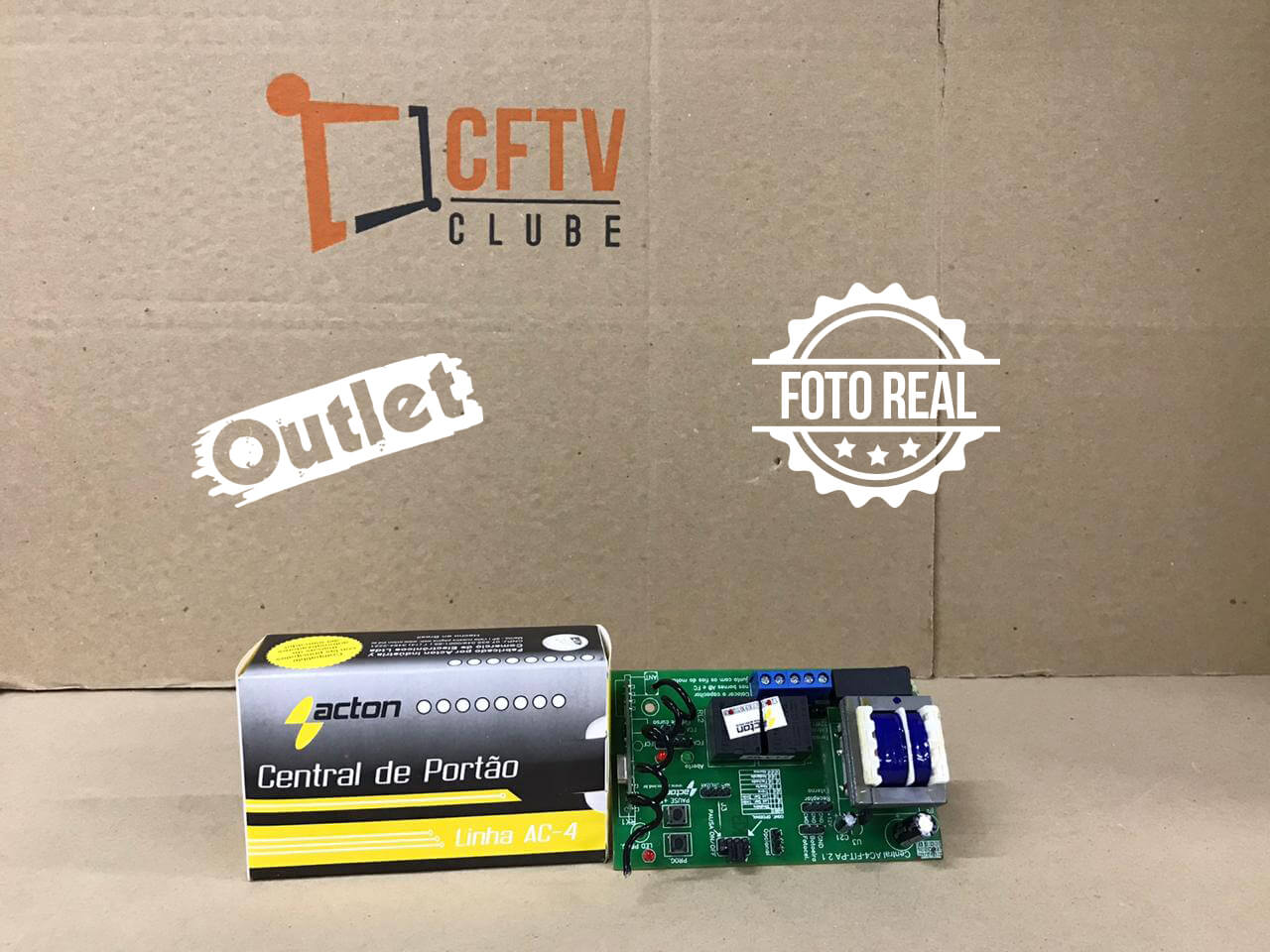 Outlet - Placa Central Acton AC-4 FIT-PA para Motor Universal  - CFTV Clube | Brasil