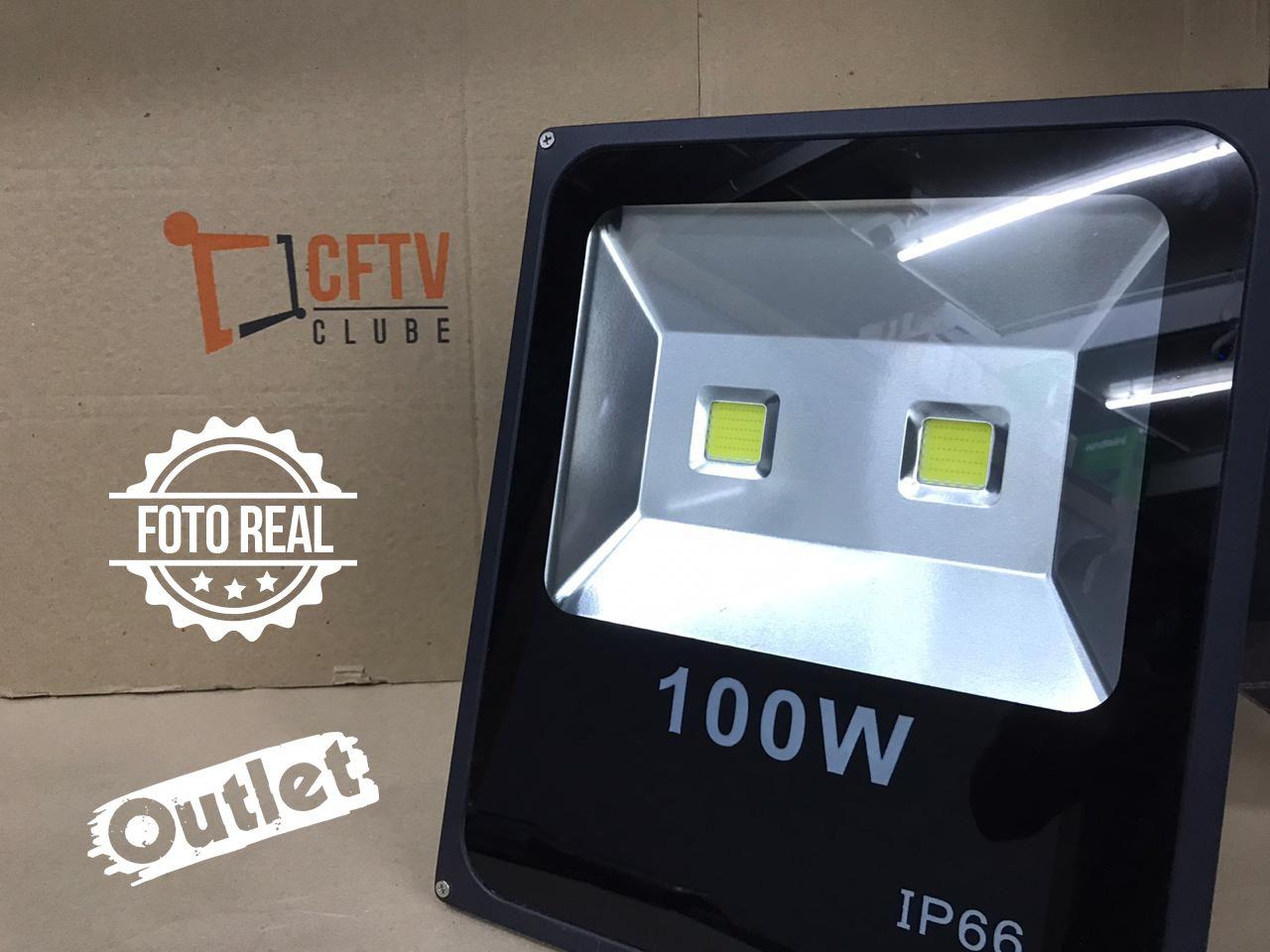 Outlet - Refletor de LED 100w Externo IP66  - CFTV Clube | Brasil