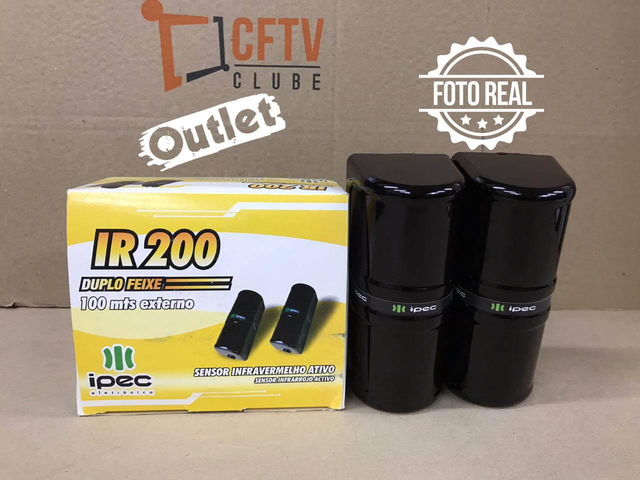 Outlet - Sensor de Barreira IPEC IR 200 Duplo Feixe IVA 100 Metros  - CFTV Clube | Brasil
