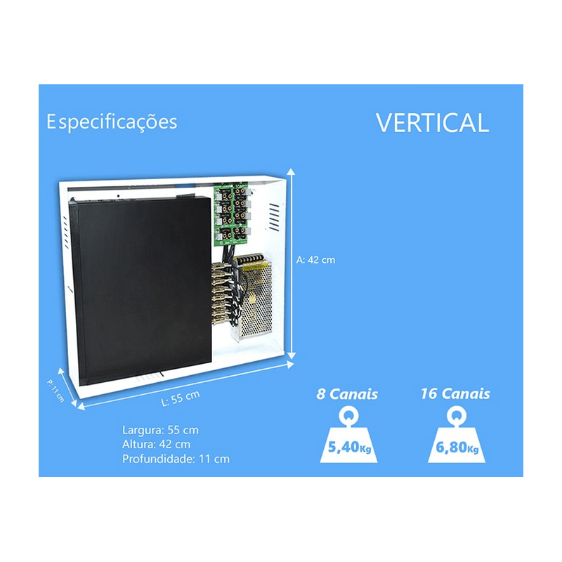 Rack PVT Duplex 16 Canais Orion HD 9000  - CFTV Clube | Brasil
