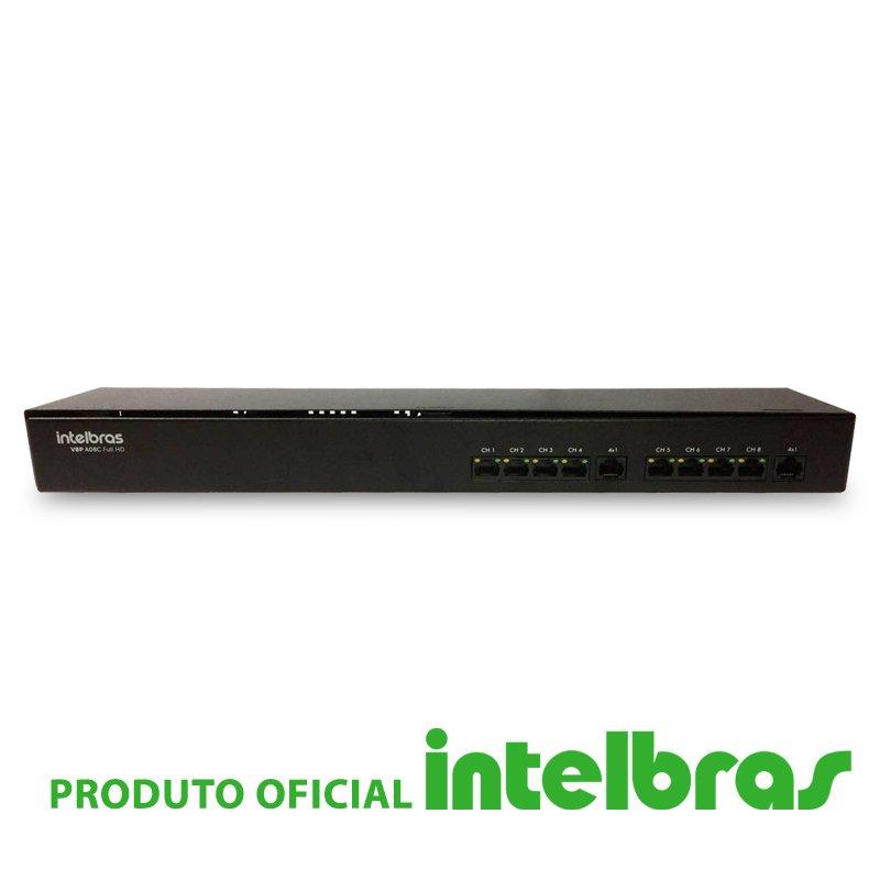 Rack Power Balun 08 Canais Intelbras VBP A08c  - CFTV Clube | Brasil
