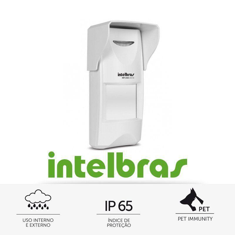 Sensor Infravermelho Passivo IVP com Fio Intelbras - 3000 Mw Ex  - CFTV Clube | Brasil