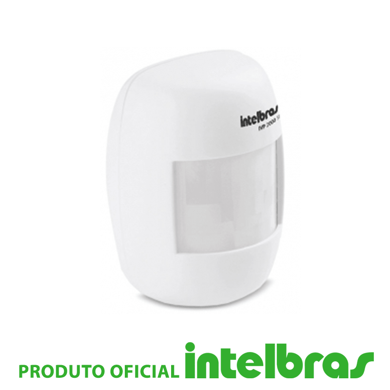 Sensor Infravermelho Passivo IVP sem Fio Intelbras - 2000 SF  - CFTV Clube | Brasil