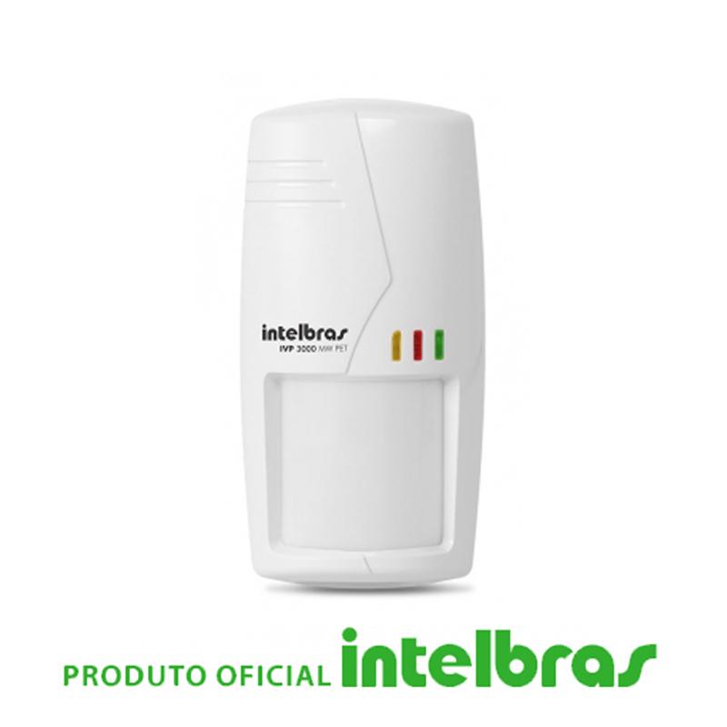Sensor Infravermelho Passivo IVP com Fio Intelbras - 3000 Mw Pet  - CFTV Clube | Brasil