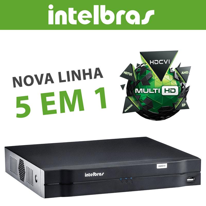 Kit Mega CFTV Intelbras 4 Canais com 4 Câmeras Bullet de Metal 1.0MP 720p  - CFTV Clube | Brasil