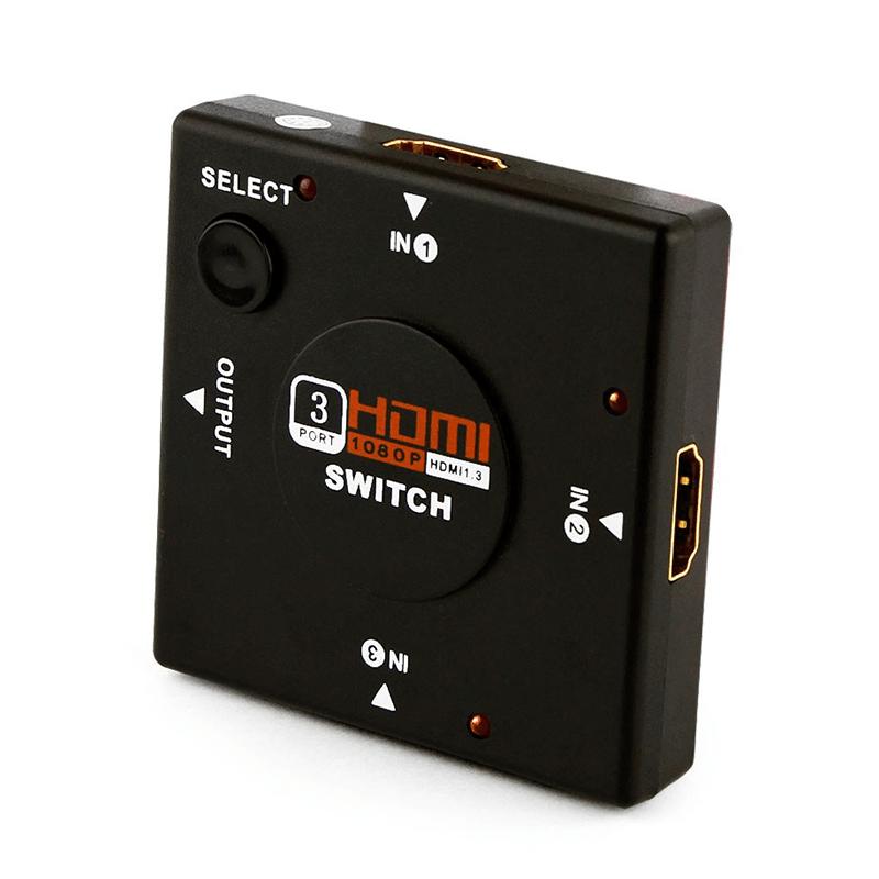 Switch HDMI Full HD 3D Digital (3 Entradas x 1 Saída)  - CFTV Clube | Brasil