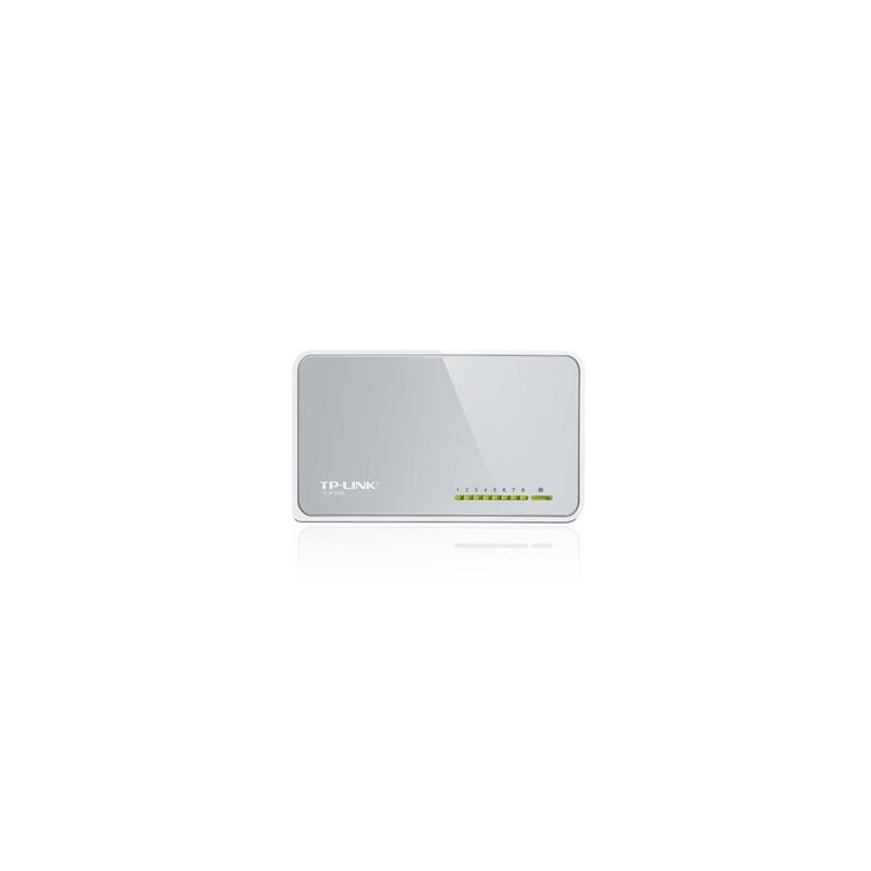 Switch de Rede TP-Link com 8 Portas 10/100Mbps - Tl-SF1008D  - CFTV Clube | Brasil