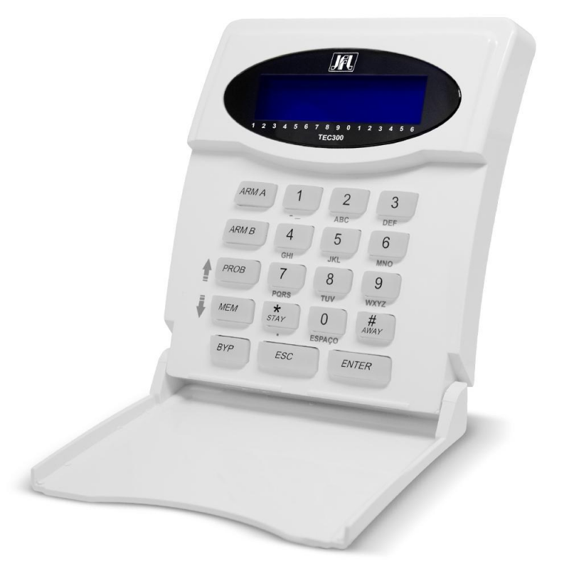 Teclado LCD TEC 300 para Centrais de Alarme - JFL  - CFTV Clube | Brasil