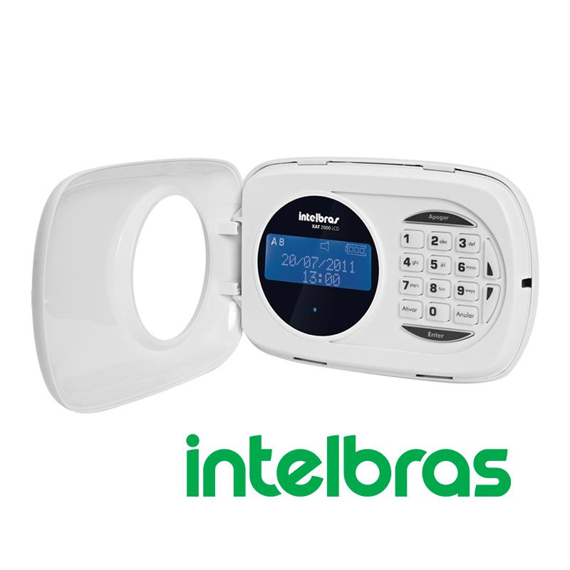 Teclado LCD XAT 2000 para Centrais de Alarme - Intelbras  - CFTV Clube | Brasil