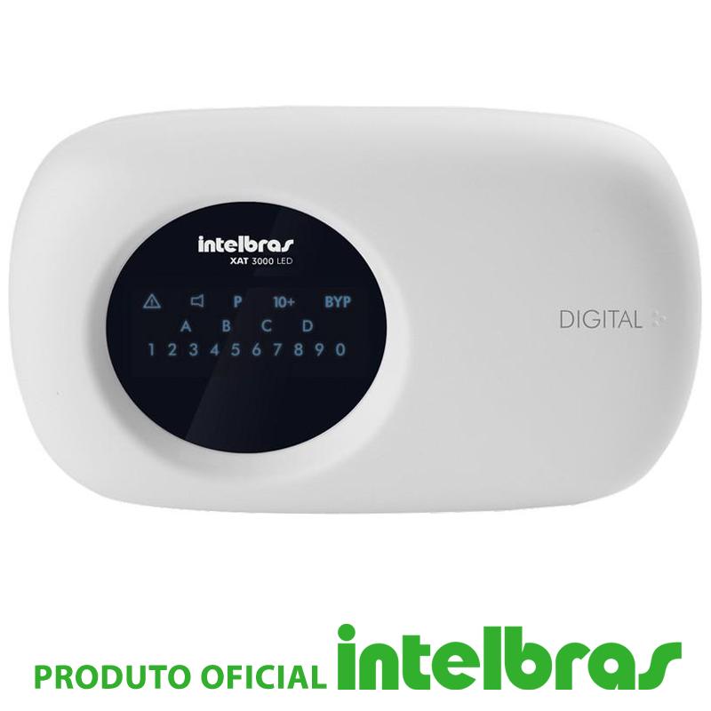 Teclado LED XAT 3000 para Centrais de Alarme - Intelbras  - CFTV Clube | Brasil