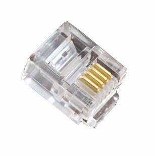 Conector RJ11 para Telefone 100 Peças