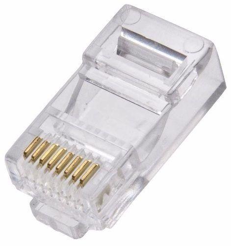 Conector RJ45 Rede Informática 100 Peças