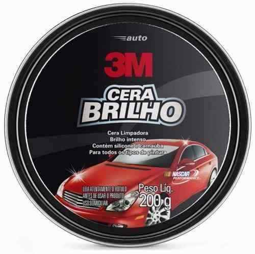 Auto Cera Brilho com Silicone e Carnaúba Lata 200G 3M