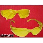 Oculos Proteção Kalipso Leopardo Amarelo