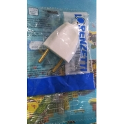 Plugue Macho 2 Pinos Branco10 Amperes Lorenzetti