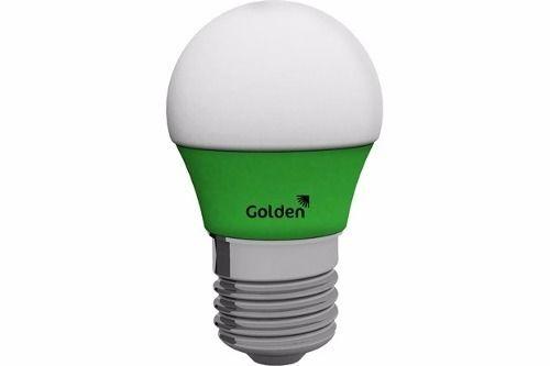 Lâmpada LED Bolinha Verde E27 5000K 127V