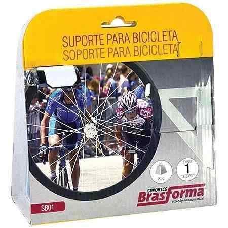Suporte de PAREDE/TETO para Bicicleta Bike Branco Brasforma