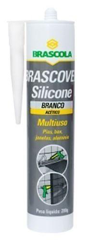 Cola Silicone Brascoved Branco 280GR