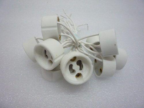 SOQUETE/CONECTOR GU10 Porcelana Rabicho LAMP. Dicroica, LED