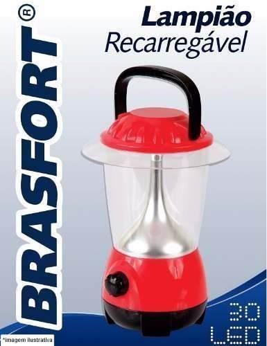 Lampião Recarregável Brasfort 30LED BIV / Luminárias CAMP