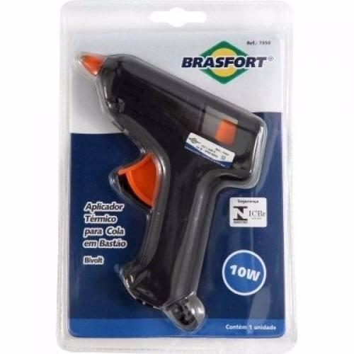 Aplicador Pistola Cola Quente 10W Bivolt Brasfort