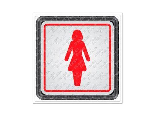 Placa Sinalizadora Auto-adesiva Sanitário Feminino