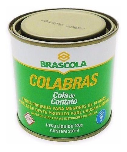 Cola De Sapateiro Adesivo De Contato Colabras 200g Brascola