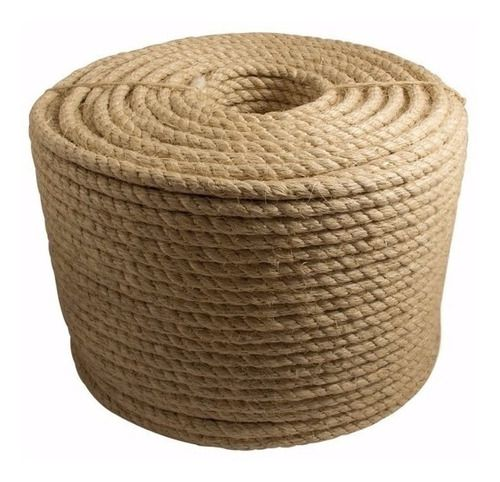Corda De Sisal Natural Trançada De 12mm (1/2) Rolo 220mt