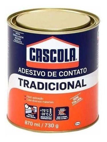 Cola De Contato 730g Cascola Lata Sapateiro Marceneiro