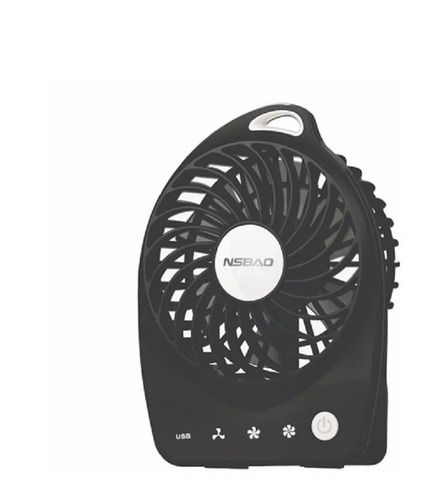 Mini Ventilador Portátil Recarregável Usb Preto
