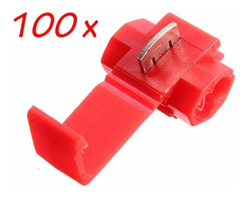 100pçs Conector Derivação Emenda Fios Vermelho 0,5 A 1,0m