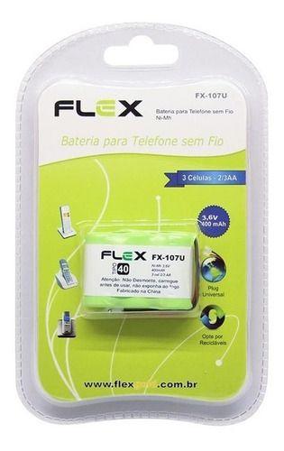 Bateria Telefone Sem Fio Ni-cd 3,6v 400mah Fx-107u Flex