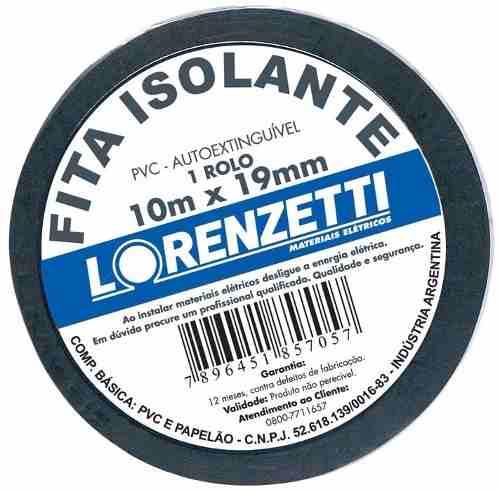 Fita Isolante Lorenzetti 10 Metros Kit com 10 Unidades
