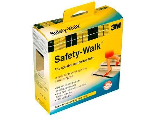 Fita Antiderrapante 50X5M Preta 3M SAFETY-WALK